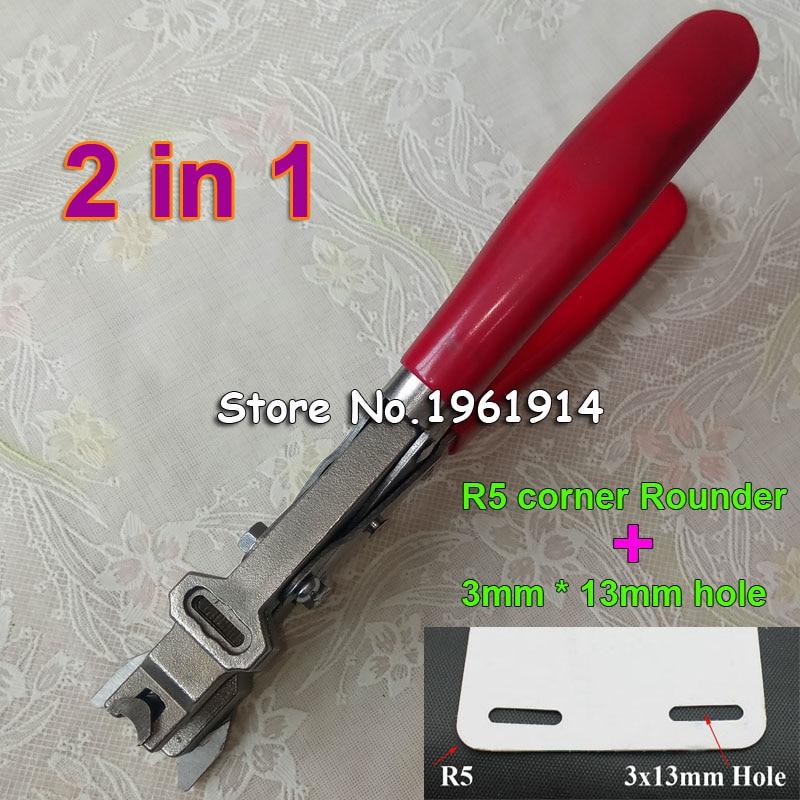 Manual R5 y 3x13MM agujero plano ID negocio Criedit Tarjeta de papel de PVC esquina golpe más redondo alicates de corte de perforación