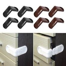 4 Uds. Cerradura de seguridad para niños y bebés, hebilla de puerta, gabinetes de cajón, bloqueo de seguridad para proteger a mano