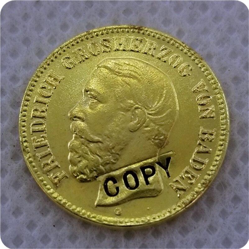 1877 estados alemanes 5 Mark-Friedrich I monedas de copia de oro monedas conmemorativas-réplica de monedas de medalla colección insignia