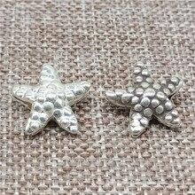 Karen Hill Tribe Silver Starfish Beads for Sea Beach Ocean Bracelet Necklace