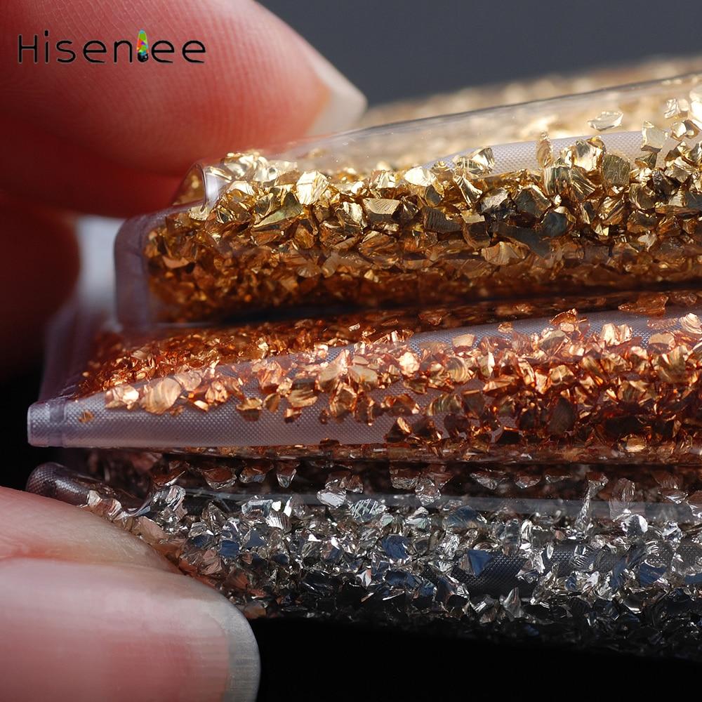 3D High Quality nail stones  Broken Glass nail jewelry Fashion Charm Small Gravel Glitter Rhinestone DIY nail art decorations