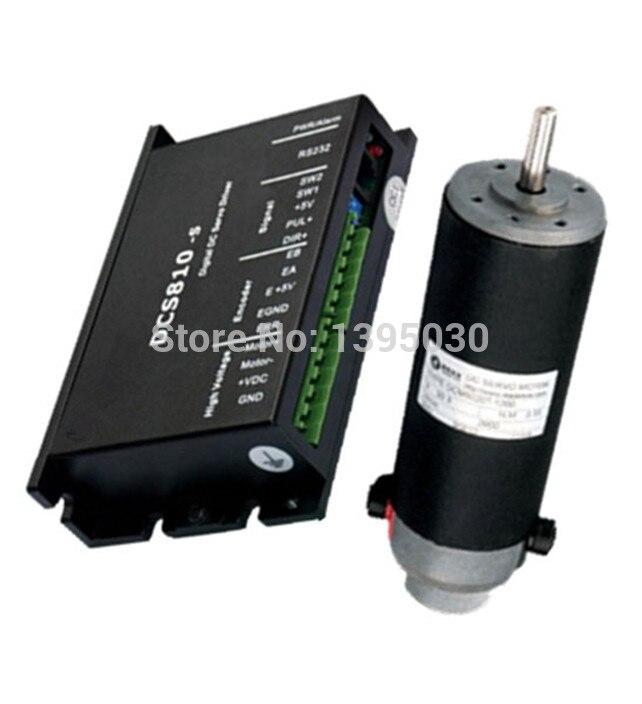 (Movimentação + motor) 1 conjunto 120w dc servo drive dcs810s + motor DCM50207-1000 escova DC18-80V 30.3vdc 120w 2900rpm