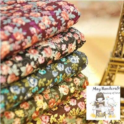 5 metros/lote Vintage rosa impreso 100% algodón tela acolchado popelina tela Metro para coser tela Patchwork tejido