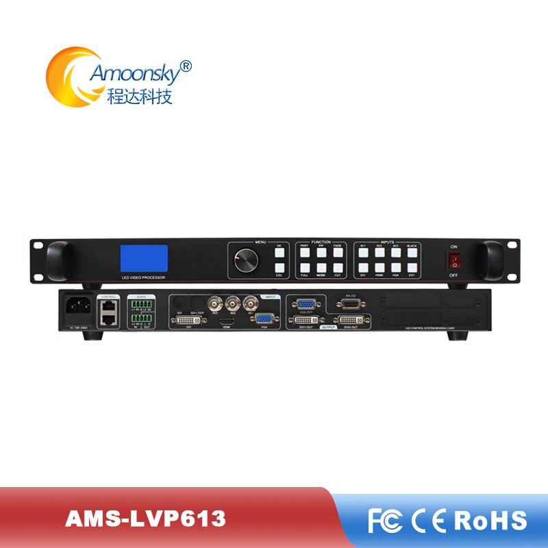 Controlador de Parede ao ar Livre Preto e Congelar para p5 Display Processador Vídeo Suporte Uma Chave Módulo Tela Led Ams-lvp613