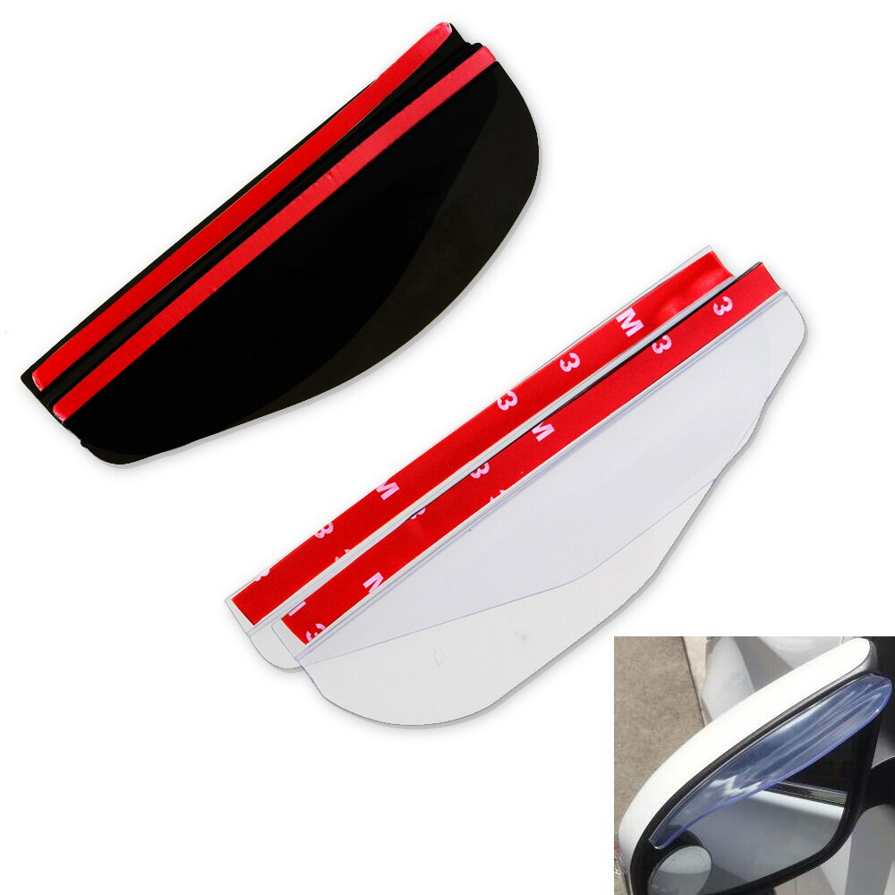 2 unids/lote Universal de PVC Flexible accesorios de coche pantalla para lluvia del espejo retrovisor a prueba de lluvia cuchillas de coche espejo trasero ceja cubierta de lluvia