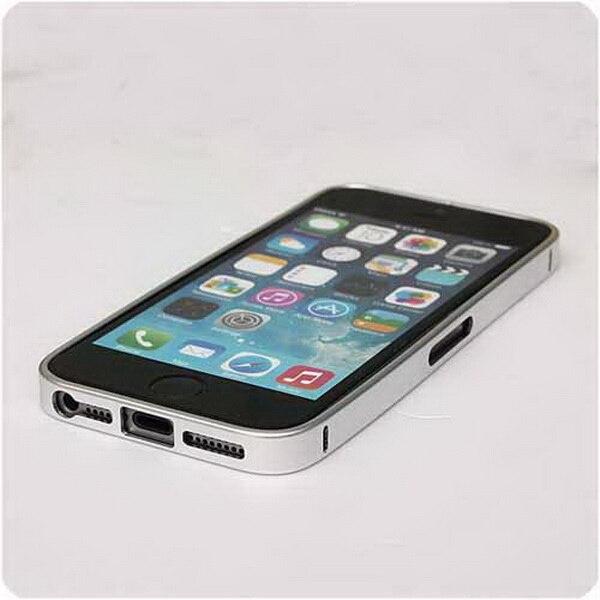 Por dhl o ems 100 piezas Delgado marco de aluminio hebilla parachoques Metal Ultra PIEL para Apple para iPhone 4 4S funda protectora