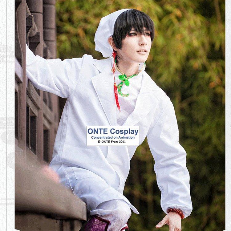 زي تنكري مخصص من Hoozuki no Reitetsu ، بدلة Hakutaku ، أبيض ، معطف للجنسين ، بدلة كاملة