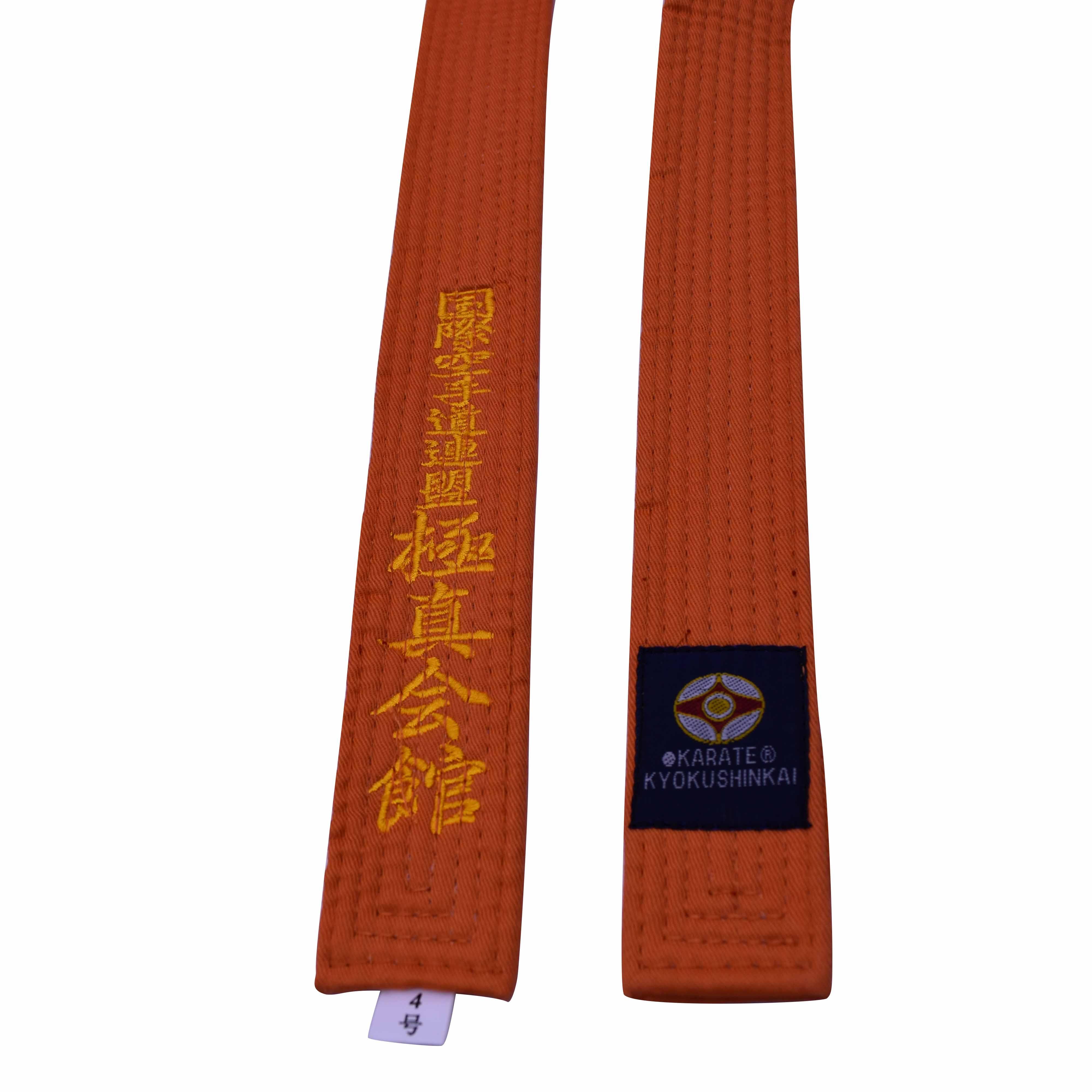 Каратэ Kyokushin пояс kyokushin каратэ kyokussinkai каратэ пояса Япония токёдо ремни могут вышитые имя и слова