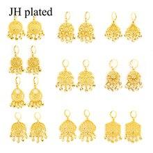 Jhplated áfrica brincos para mulheres/menina árabe etíope jóias presentes casamento noiva festa brincos oriente médio
