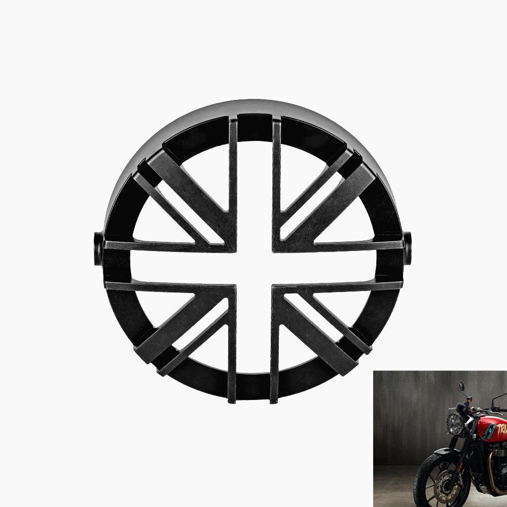 Bisel de faro para motocicleta, anillo decorativo, Faro, protección de rejilla, Visor Protector para Triumph Street Scrambler 2017