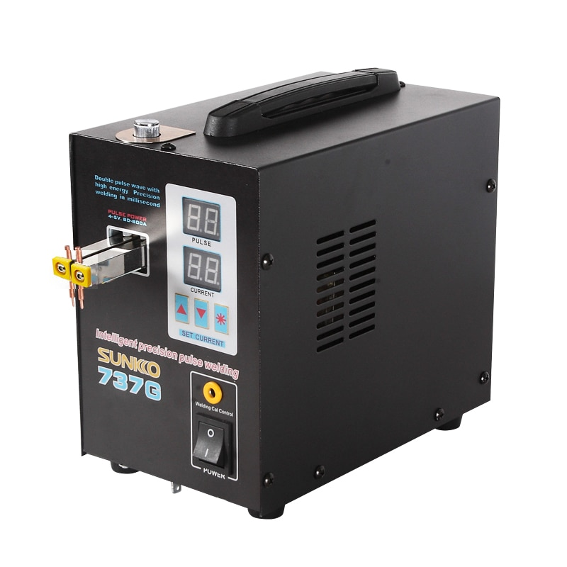 SUNKKO 737G Battery Spot Welder 1.5KW Digital Display Spot Welding Machine For 18650 Battery Pack Weld Double Pulse Spot Welders enlarge