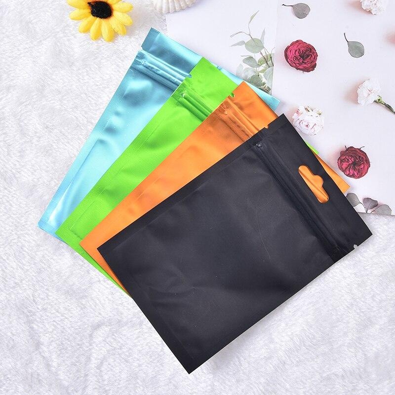 Bolsa con cierre plano en 4 colores bolsa de papel de aluminio sellado térmico bolsa Ziplock para alimentos grado 8*13cm/10*18cm/9*15cm