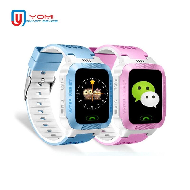 Relógio inteligente crianças android real-tempo gprs rastreador monitor remoto smartwatch com câmera lanterna anti-perdido relógio de telefone do bebê