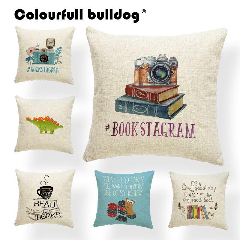 Подушка с облаками, наволочка для подушки, чехол с надписью Pilow Book Car, Подарок на годовщину, листья, цветок, наволочки, чашка 45X45Cm, льняная Нови...