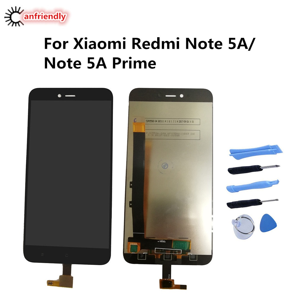 For Xiaomi Redmi Note 5A 5 A Prime LCD Display+Touch Screen Replacement Digitizer Assembly For Xiaomi Redmi Note5A Prime display original lcd frame for xiaomi redmi 5a lcd display screen replacement for redmi 5a screen digiziter assembly aaa quality