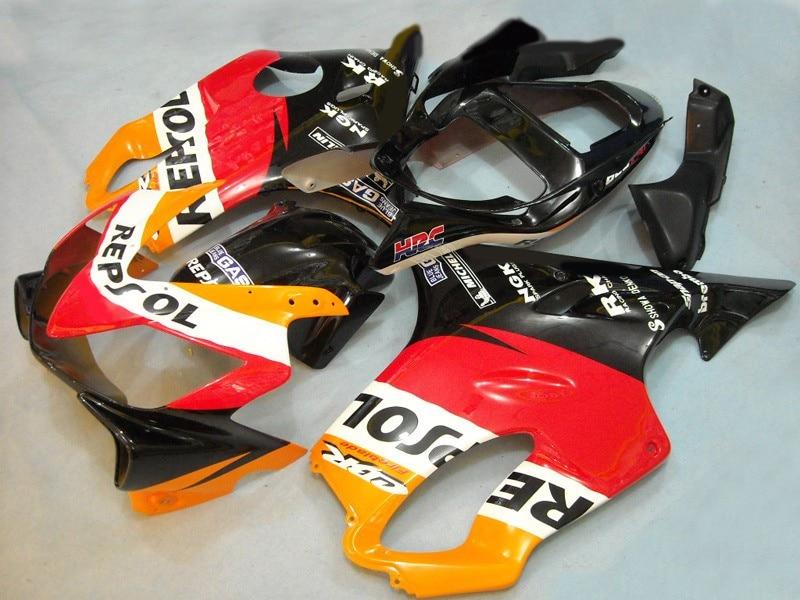 Caronnages complets pour W1 CBR600F4i 2001-2003 ans   Plastique ABS dinjection F4i 01 02 03 panneaux noirs oranges carrosserie