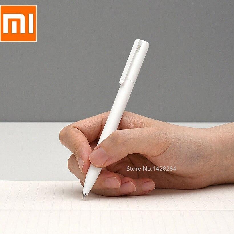 Xiaomi gel caneta Escritório Estudante 10 pcs 0.5 milímetros de tinta Preta caneta Gel Suave Leve Pressionando o núcleo