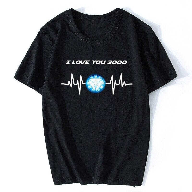 Футболка с надписью «I Love You Three Thought Times», «Железный человек», «thironman», «thoussure Love U», футболка 3000 раз, футболка с рисунком «мстители» для мужчин и женщин