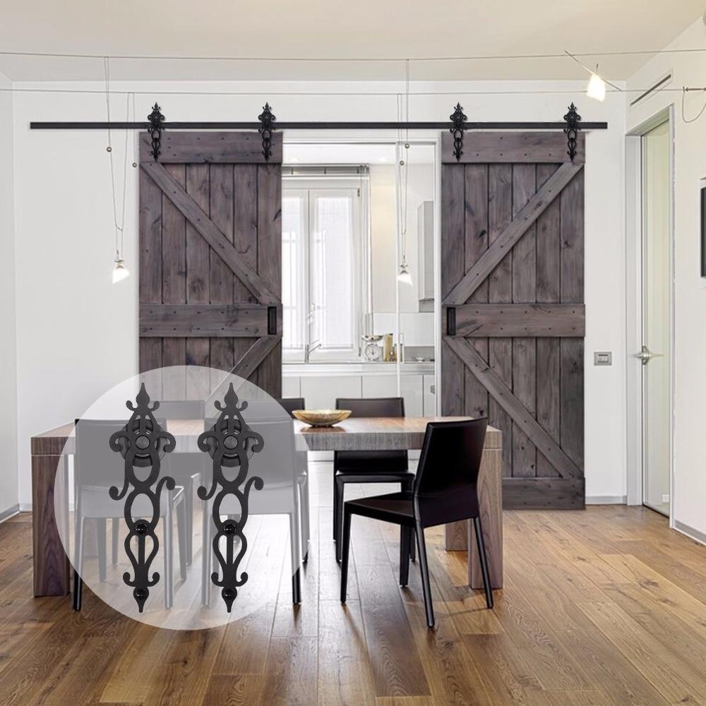 LWZH 10ft индивидуальная фурнитура для раздвижных дверей, фурнитура для деревянных дверей, подвесная фурнитура для раздвижных дверей в америка...
