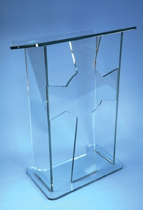 Atril atril de acrílico transparente, atril de acrílico transparente, atril de acrílico, púlpito Perspex, podio de plexiglás
