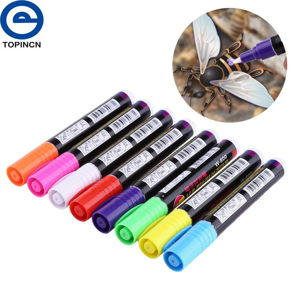 8 Uds abeja marca de agua pluma en dibujo marcadores de equipo para apicultor marcadores diseño de reina a Mark de La Reina pluma orientada a la exportación