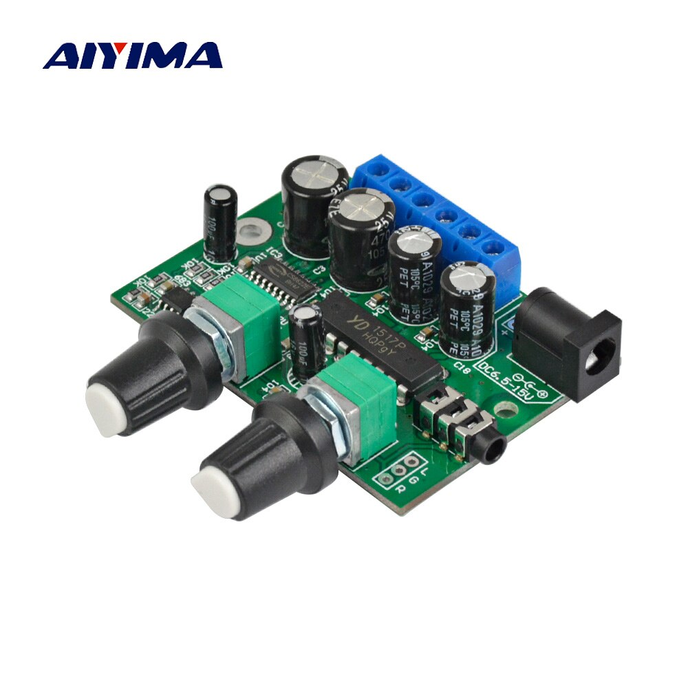 AIYIMA 2,1 Subwoofer amplificador tarjeta de audio 6W * 2 + 25W Mini Bass amplificador HIFI YD1517P para 4-6 pulgadas 40W altavoz SubWoofer DIY