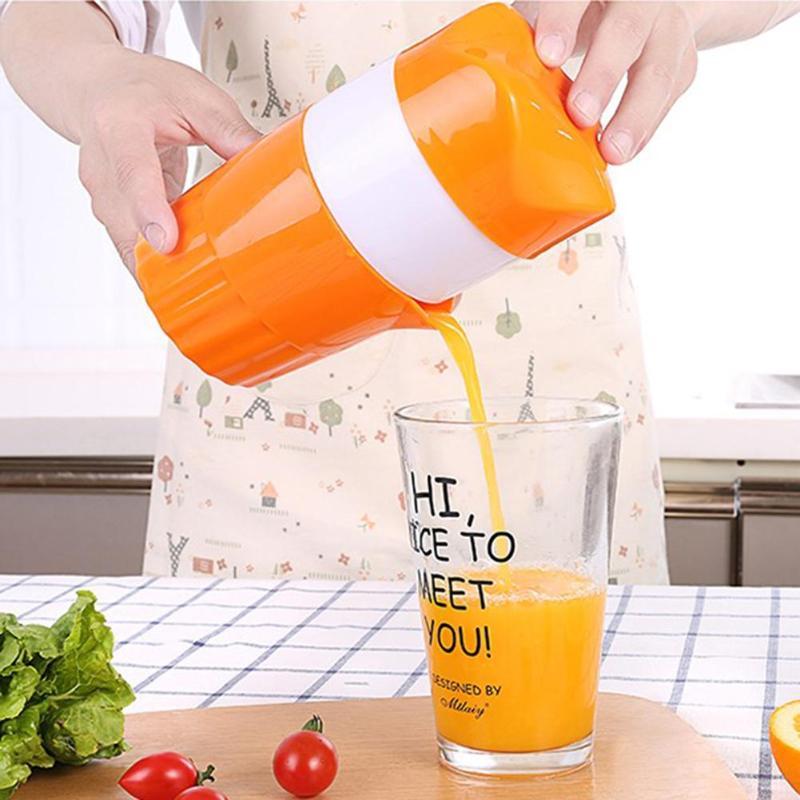 Прямая поставка, портативная ручная соковыжималка для цитрусовых 300 мл, 100% оригинальная соковыжималка для здоровых детей, соковыжималка для апельсина, лимона, фруктов