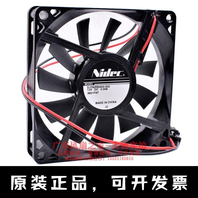 Nidec DJT80RBAS5-S02 8cm 8015 12v 0.04a refrigerador embutido ventilador de refrigeração