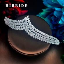HIBRIDE Hot Sale Best Quality Women Bridesmaid Crown Tiara Comb Wedding Hair Accessories Fashion Headband Jewelry C-87