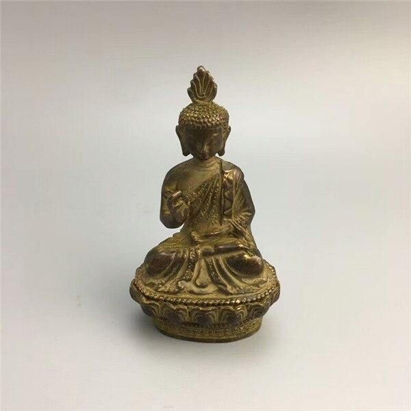 Estatua de bronce de Buda de Tíbet chino antigua estatua de cobre