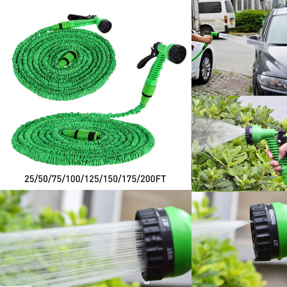 Manguera de agua Flexible extensible, manguera de jardín, pistola rociadora de riego para lavado de coches, sistema de limpieza de riego, Kit de riego, manguera de agua