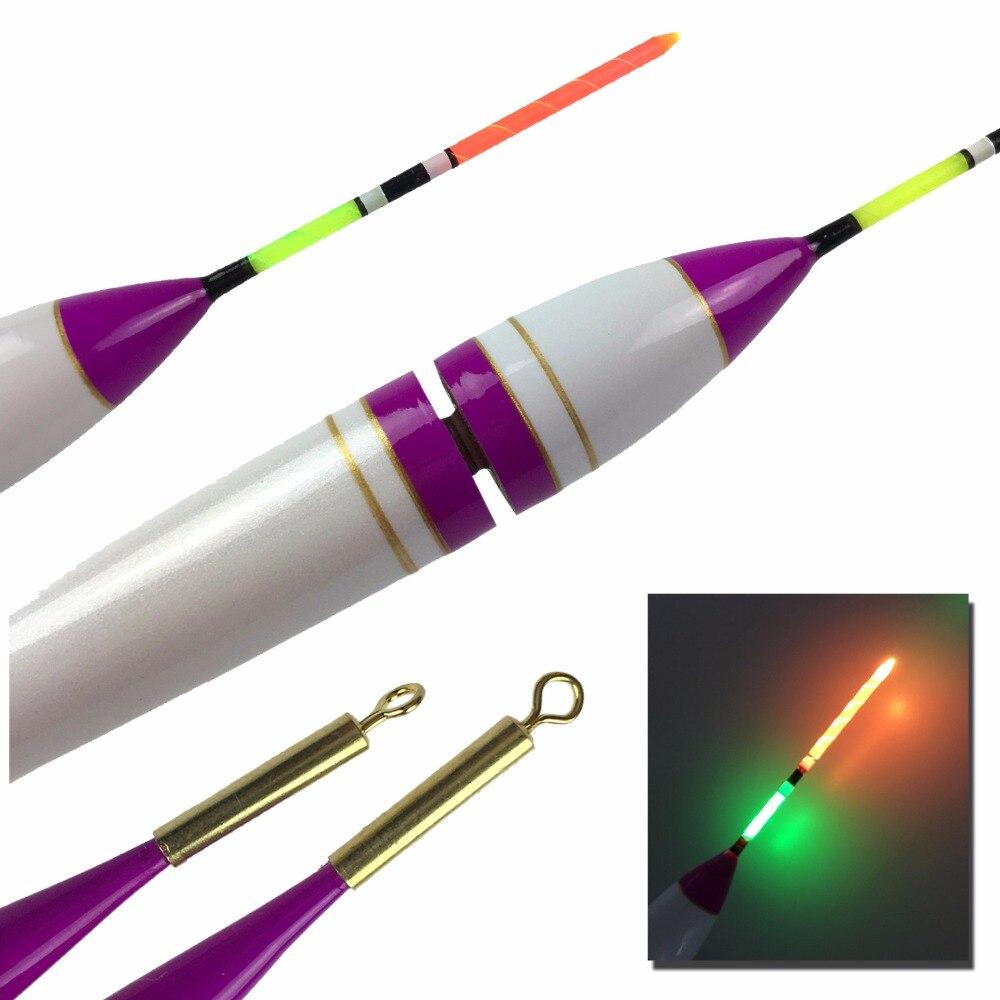 2 uds. Flotadores de pesca LED 4g 7,8g #0,8 ~ #3, flotador de iluminación de madera Balsa, flotador de pesca electrónico, Roca, agua salada, Mar luminoso