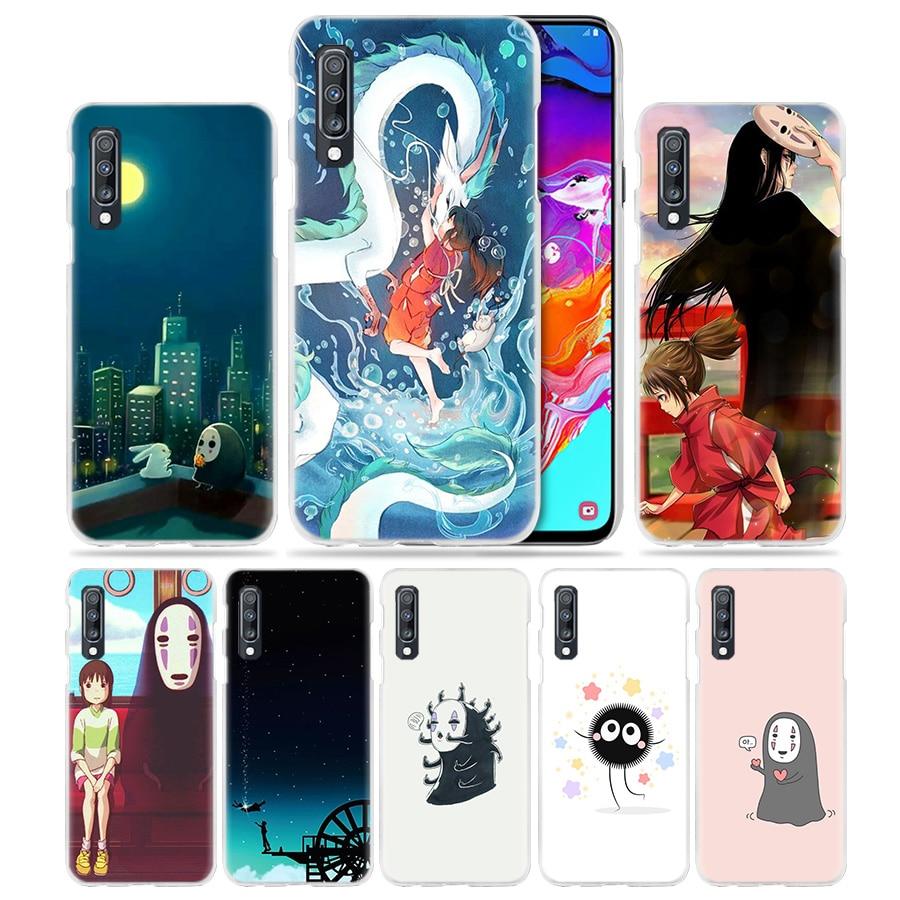Anime Case for Samsung Galaxy A50 A70 A20e A40 A30 A20 A10 A70s A71 A9 A7 2018 Hard PC Phone Cover Totoro Spirited Away Ghibli