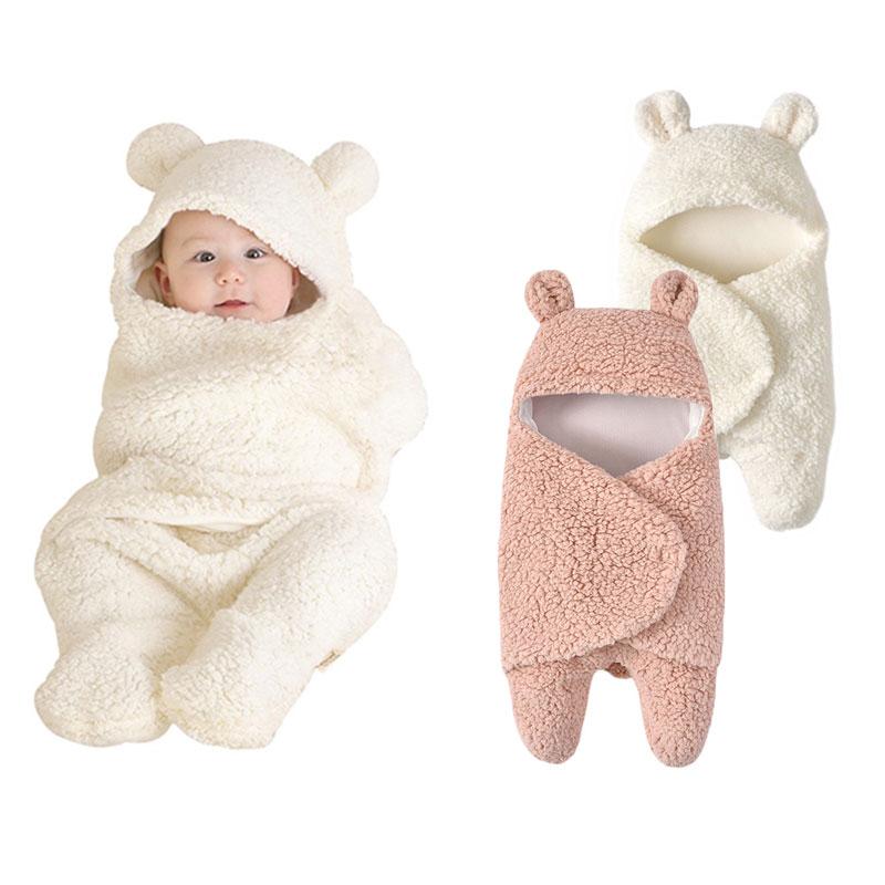 ¡Nuevo! Manta envolvente para bebé, bolsa de dormir para recién nacidos con oso, manta para bebé