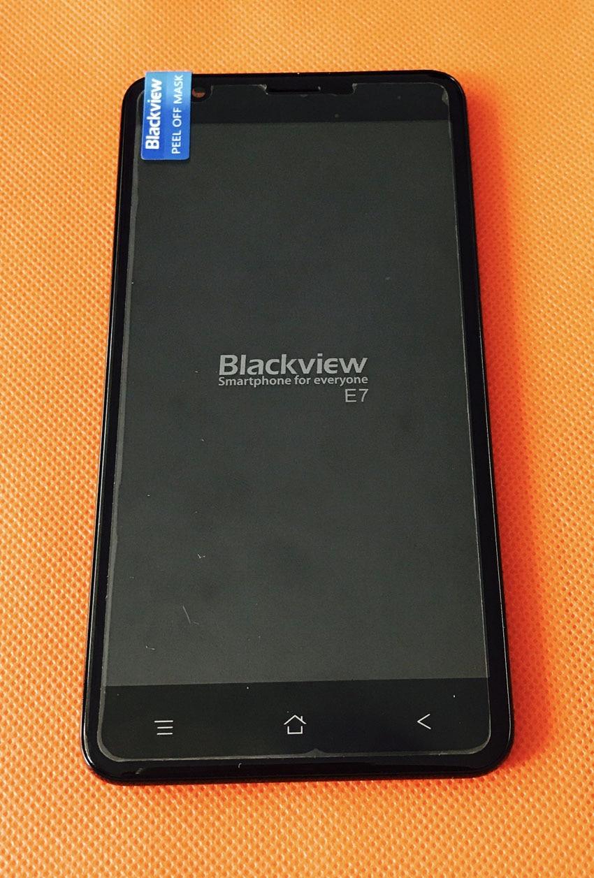 "Se Original pantalla LCD + pantalla táctil digitalizador + marco para Blackview E7 MTK6737 Quad Core 5,5 ""HD envío gratis"
