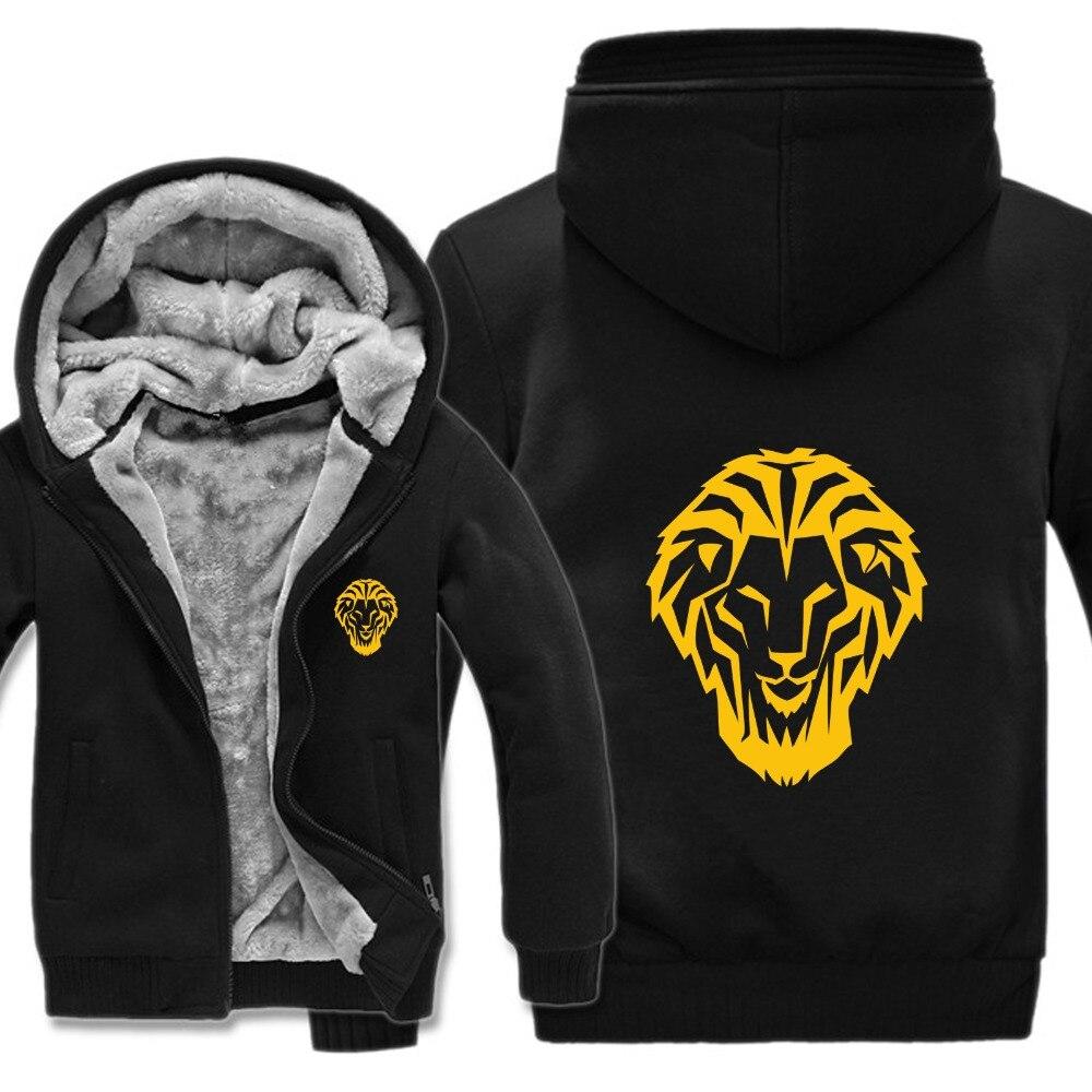 Large size 5XL mens hoodies 2019  Athletics Bilbao Espana Leones Jacket Winter Man Coat Casual Wool Liner Fleece Sweatshirts