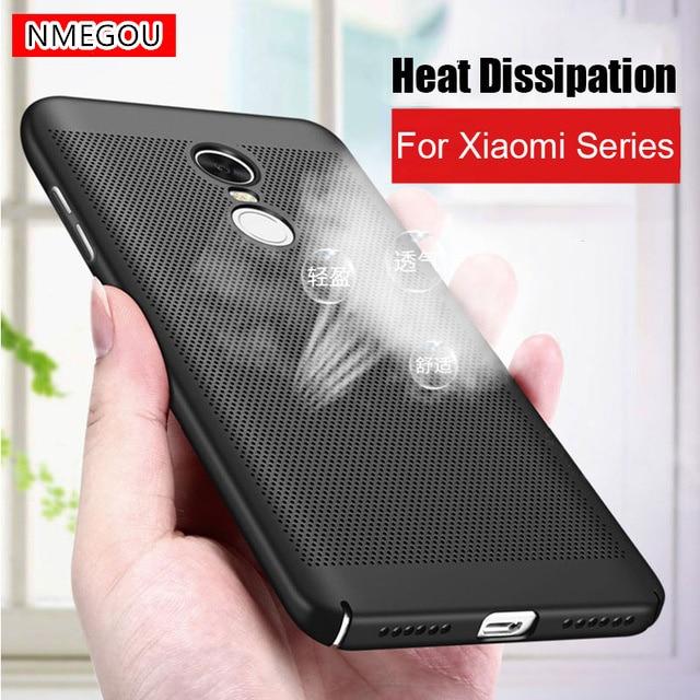 Disipación de calor agujero hueco del teléfono de la PC de los casos para Xiaomi Redmi 4X 4A 3S 5 Plus nota 4X 4 3 5 Pro 5A primer Mi6 Mi A1 5X Xiomi cubierta