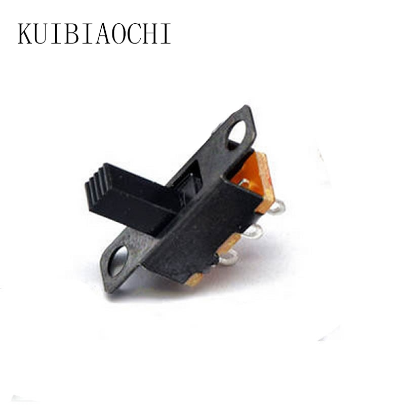 50 unids/lote SS12F15VG6 Micro interruptor deslizante 3 pines 2 posiciones 1P2T ON-OFF interruptor de palanca alto 6mm