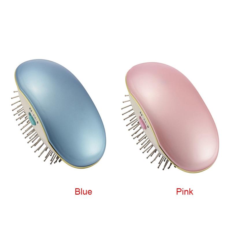 Cepillo de pelo iónico eléctrico portátil para llevar cepillo de pelo mini peine de masaje para el cuidado del cabello viaje a casa con NShopping
