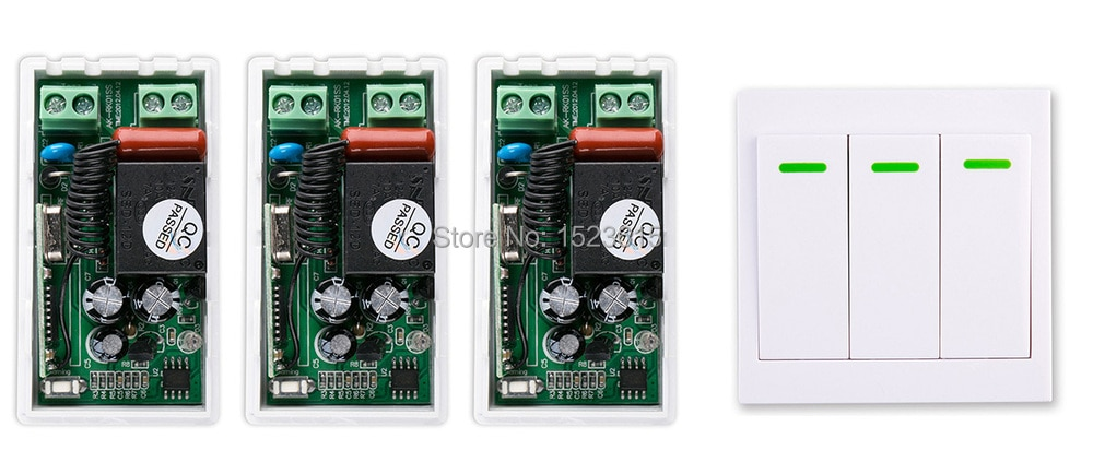 Novo AC 220 V 1CH Sistema Interruptor de Controle Remoto Sem Fio Transmissor receptor + Controle Remoto Do Painel de Parede Pegajoso Controle Remoto Casa Inteligente interruptor