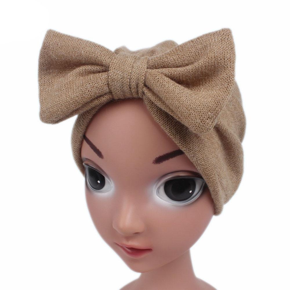 Niños Niñas bebé Sombrero estilo Boho Beanie bufanda turbante cabeza gorro envolvente accesorios de bandas para el cabello accesorios para el cabello traje de 0-24M