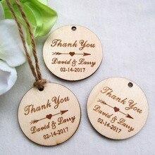 Etiquettes de mariage avec cercle rond   200 pièces, personnalisées gravées,