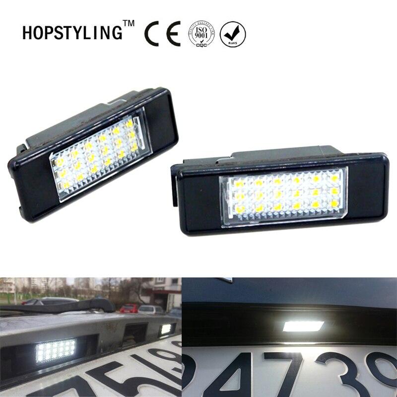 Nenhum erro conduziu a luz da placa de licença para citroen berlingo estate van c4 picasso c2 3d c3 5d estilo do carro lâmpada número da placa traseira