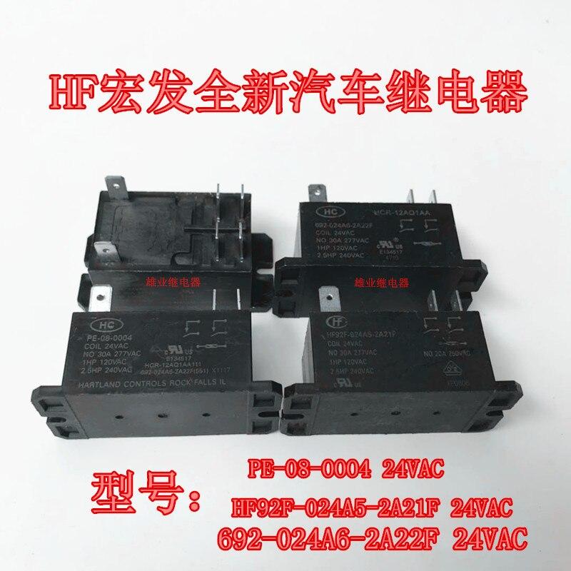 PE-08-0004 24VAC Relé HF92F-024A5-2A21F 692-024A6-2A22F