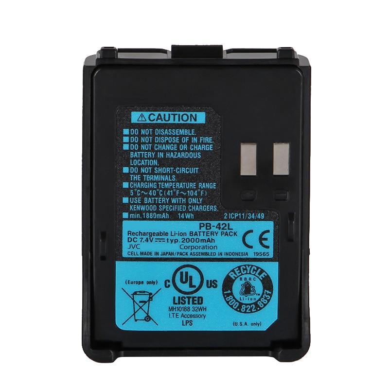 Аккумуляторная литий-ионная батарея YIDATON, 7,4 В, 2000 мА · ч, для kenwood PB-42L, TH-F6, th-f6a, th-f7, портативная рация