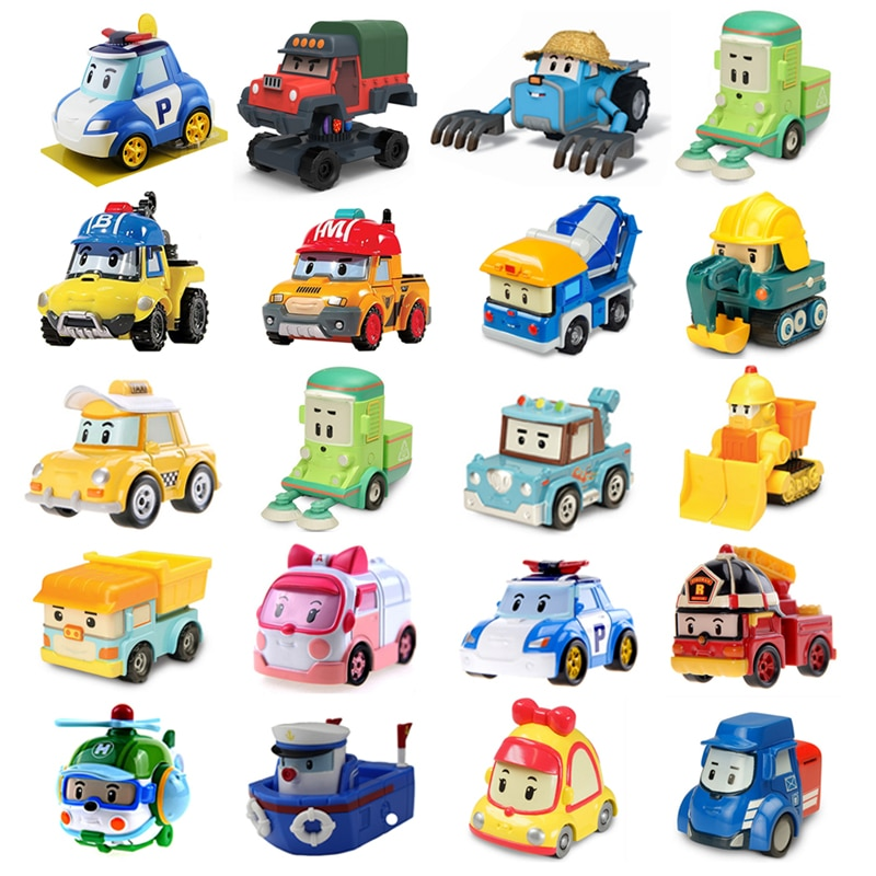 25 Style Robocar Poli Korea kids Toys Robot Poli Roy Haley Anime Metal Action Figure Toys Car For Children Best Gift