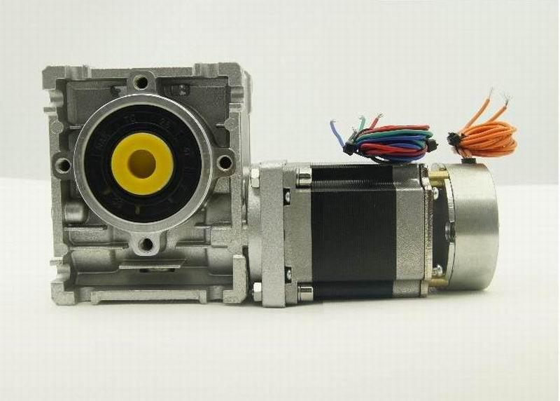 NEMA23 stepper motor 1.3NM with brake and Worm reducer Ratio 5:1/7.5:1/10:1/15:1/20:1/25:1/30:1/40:1/50:1/60:1 and output shaft