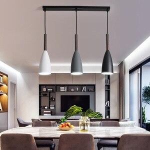 Modern Nordic Designer Wood White Black Green Pendant Light Hanging Lamp for Living Room Loft Decor Kitchen Dining Room Bedroom