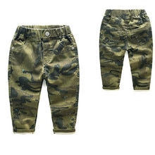 Mode Jungen Hosen Frühling Herbst 2-7y Jungen Camouflage Baumwolle Stretch Pluderhosen Teenager Jungen Kleidung Hosen Jungen Jm03