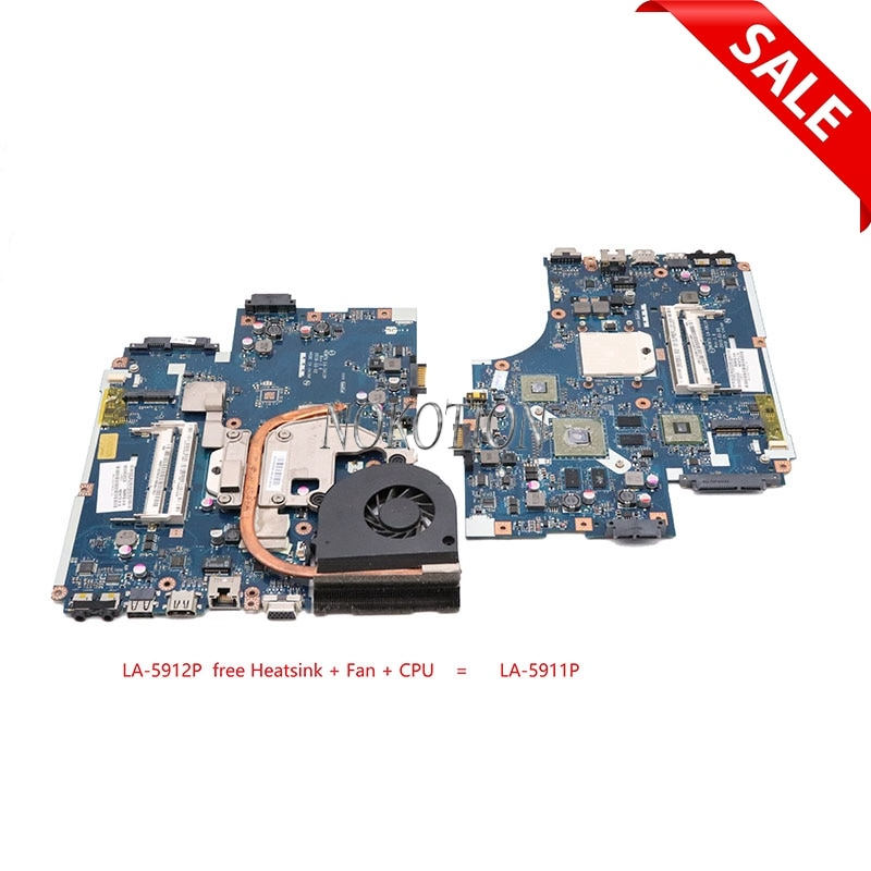 NOKOTION LA-5912P placa base de computadora portátil para acer TM 5542 5542G MBTZG02001 carta simple hembra S1 DDR3 MB BL002.001